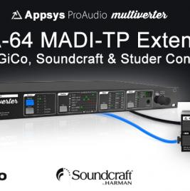 Appsys MTA-64 MADI-TP - DiGiCo Soundcraft & Studer - Synthax Audio UK