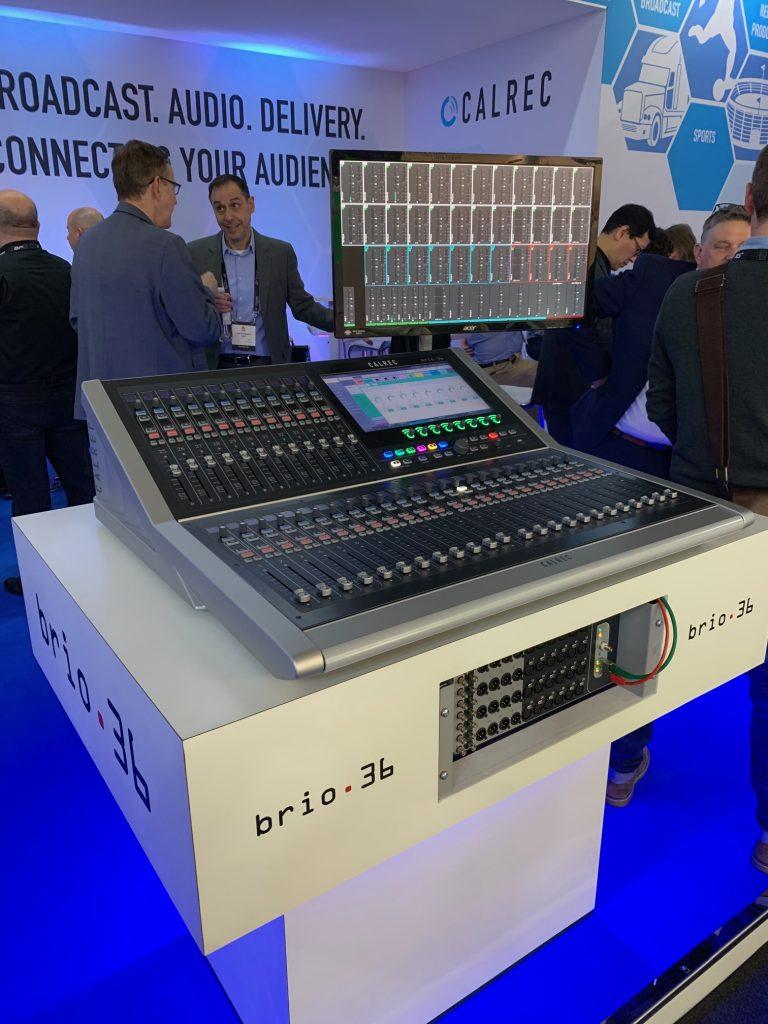 Calrec Stand - 03 - Type R - Brio - Synthax Audio UK