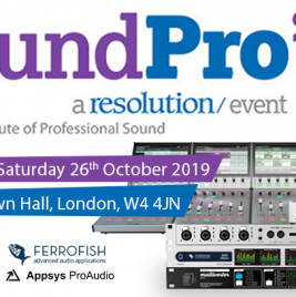 Join us at SoundPro 2019 - Synthax Audio UK
