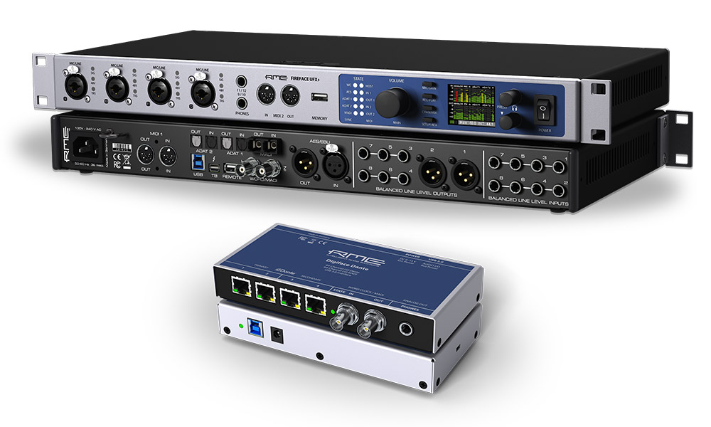 RME Fireface UFX+ & RME Digiface Dante Audio Interfaces - Synthax Audio UK