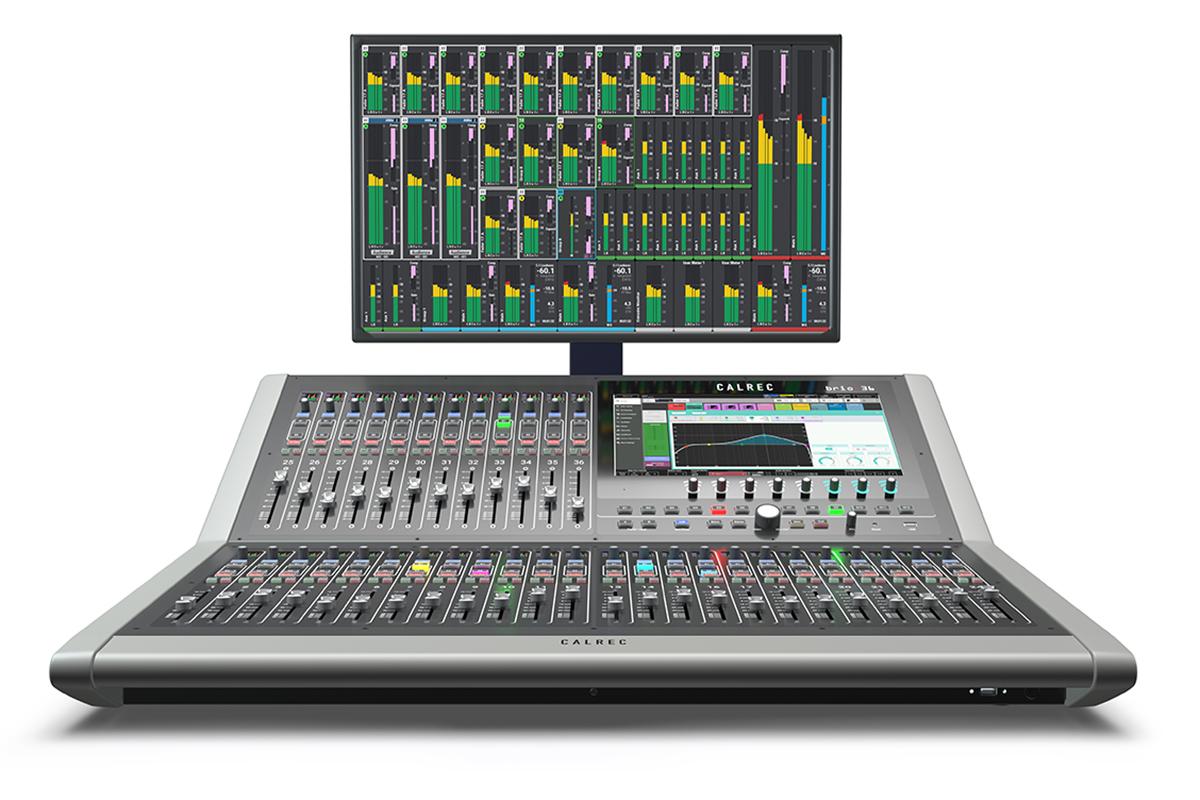 Calrec Brio 36 - with monitor - Synthax Audio UK