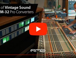Dennis Rux - RME M-32 Pro Converters - Synthax Audio UK