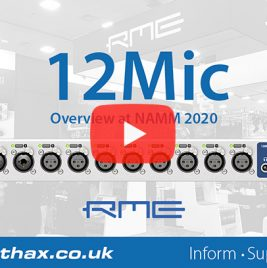 RME 12Mic - NAMM 2020 Video - Synthax Audio UK