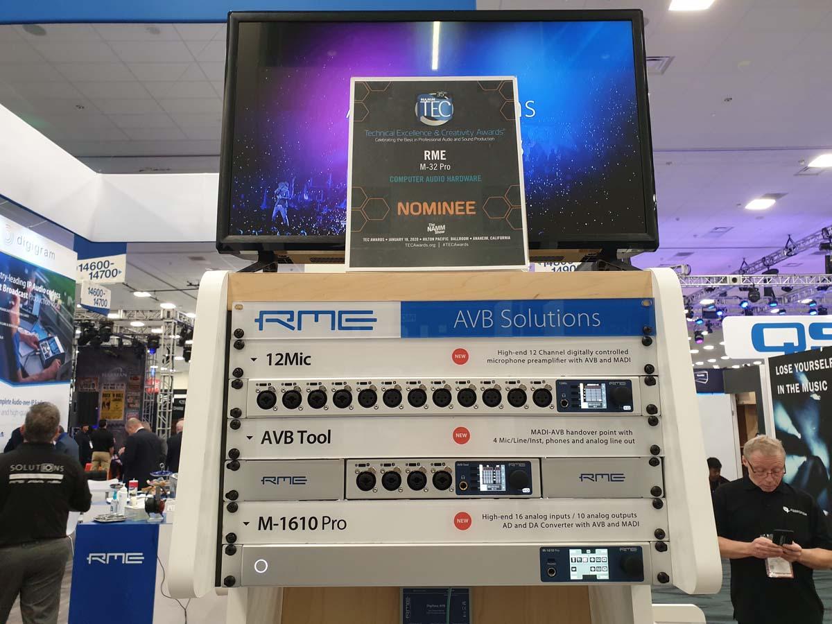 RME AVB Solutions - 12Mic - AVB Tool - M-1610 Pro - NAMM 2020 - Synthax Audio UK