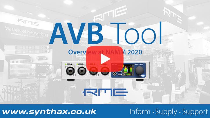 RME AVB Tool - NAMM 2020 Video - Synthax Audio UK