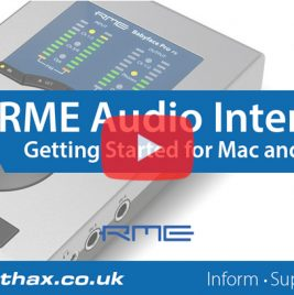 RME Interfaces - Getting Started Videos - Synthax Audio UK