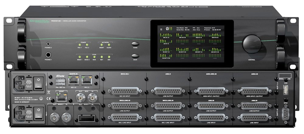 DirectOut ProdigyMC - Front and Back - Synthax Audio UK