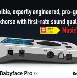 RME Babyface Pro FS - MusicTech Review - Synthax Audio UK