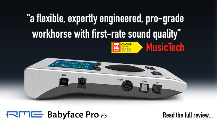 RME Babyface Pro FS - MusicTech Review - Synthax Audio UK