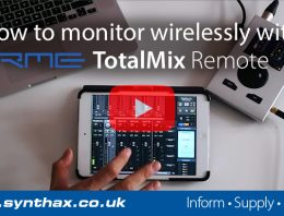 Wireless Monitoring with an RME Babyface Pro and iPad - TotalMix Remote - Synthax Audio UK