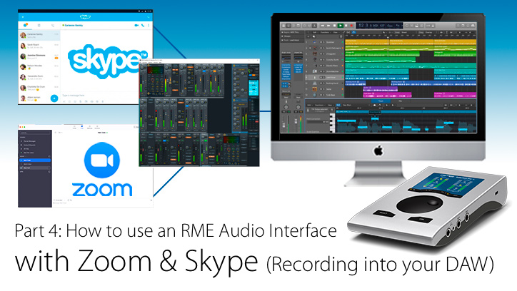 How to record Skype and Zoom into a DAW - RME Interface - Synthax Audio UK