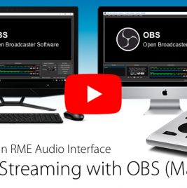 Live Streaming with OBS and an RME Interface - Synthax Audio UK