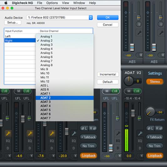 RME DIGICheck NG – Loopback - Synthax Audio UK