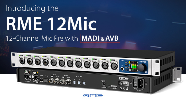 Introducing the RME 12Mic AVB Microphone Preamplifier - Synthax Audio UK