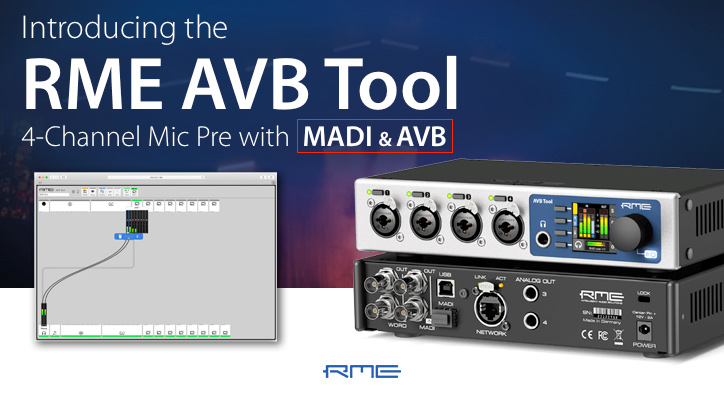 RME AVB Tool - Overview Video Image - Synthax Audio UK