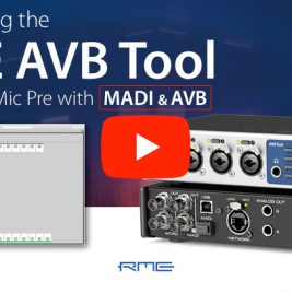 RME AVB Tool - Overview Video - Synthax Audio UK