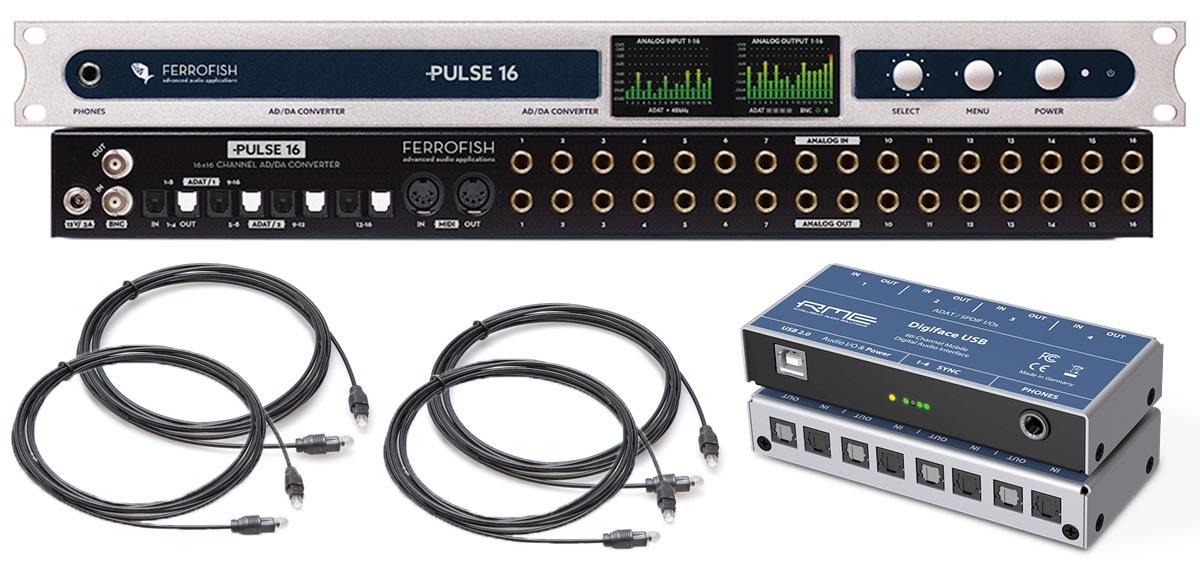 RME Digiface USB & Ferrofish Pulse 16 - ADAT - Synthax Audio UK