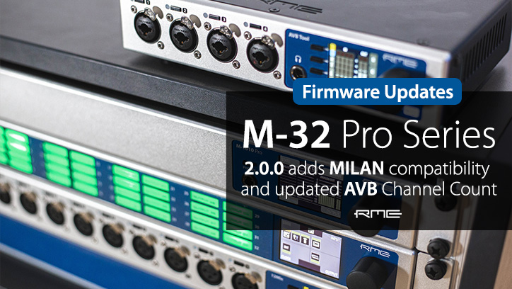 RME AVB Series - Firmware Updates - Synthax Audio UK