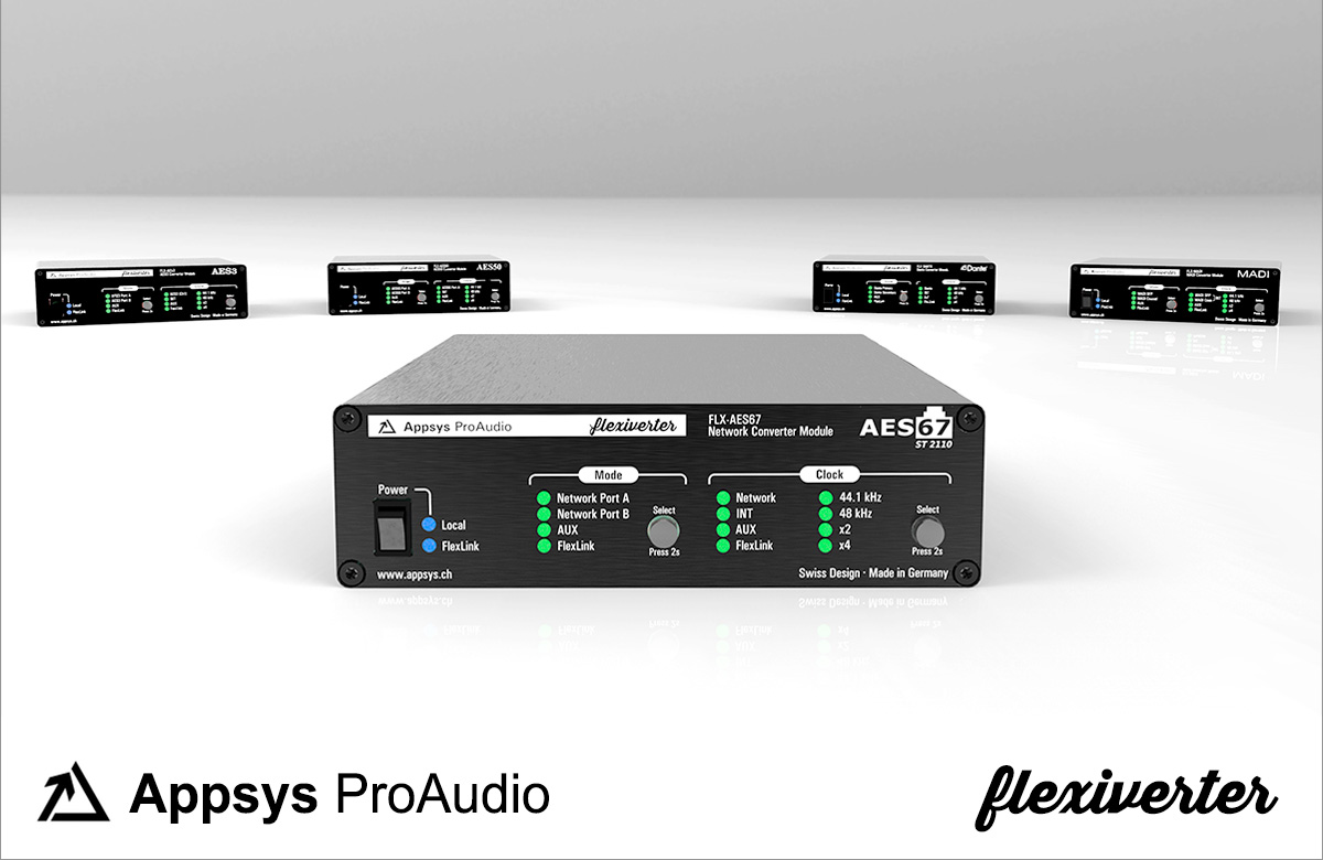 Appsys Flexiverter - AES3 - AES67 - ST2110 - Synthax Audio UK