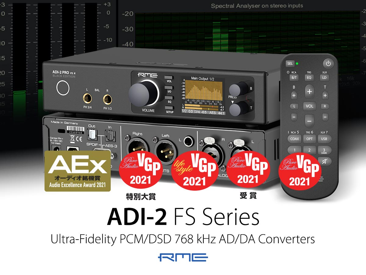 RME ADI-2 Series - AEx-VGP Awards 2021 - Synthax Audio UK
