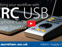 RME ARC USB - Mic Control & Toggle TotalMix Window Tutorial - Synthax Audio UK