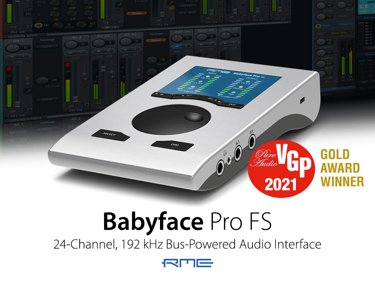 RME Babyface Pro FS - Gold Award - Synthax Audio UK
