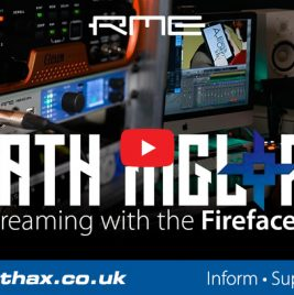 RME Fireface UFX+ - Live Streaming - Death Ingloria - Synthax Audio UK