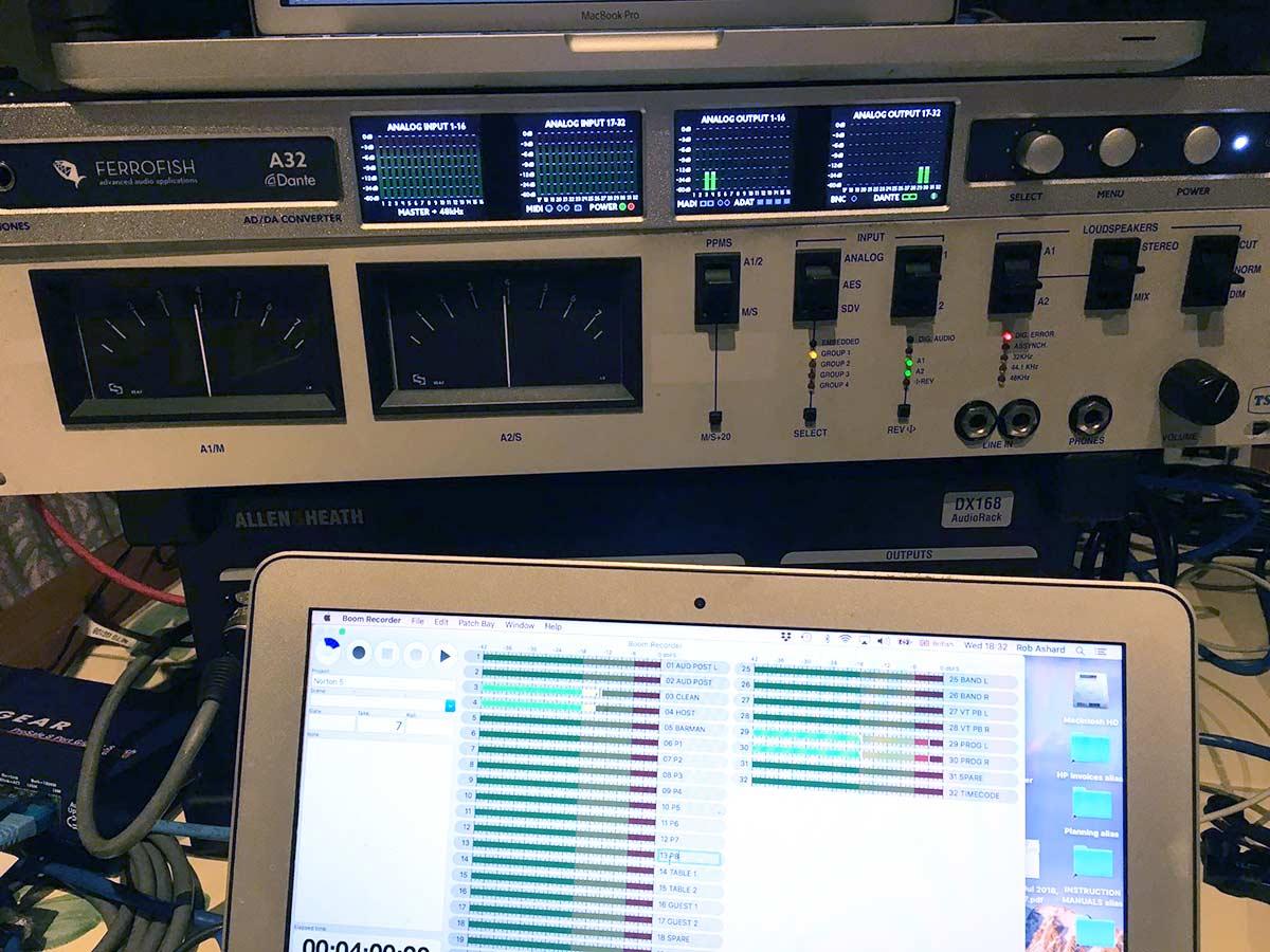 Rob Ashard - Ferrofish A32 Dante & PPMs - Synthax Audio UK