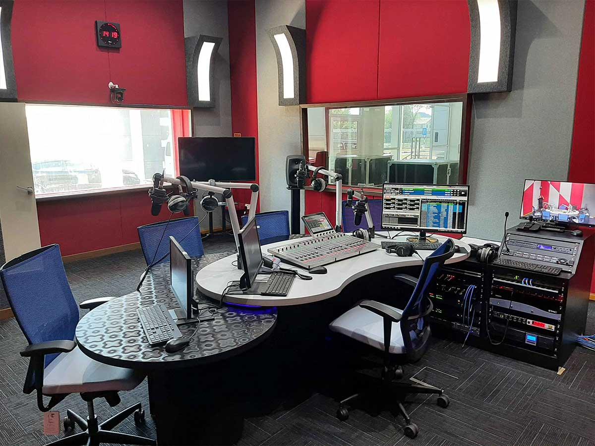 Calrec Type R Radio Consoles - RTM Perlis Malaysia - Synthax Audio UK