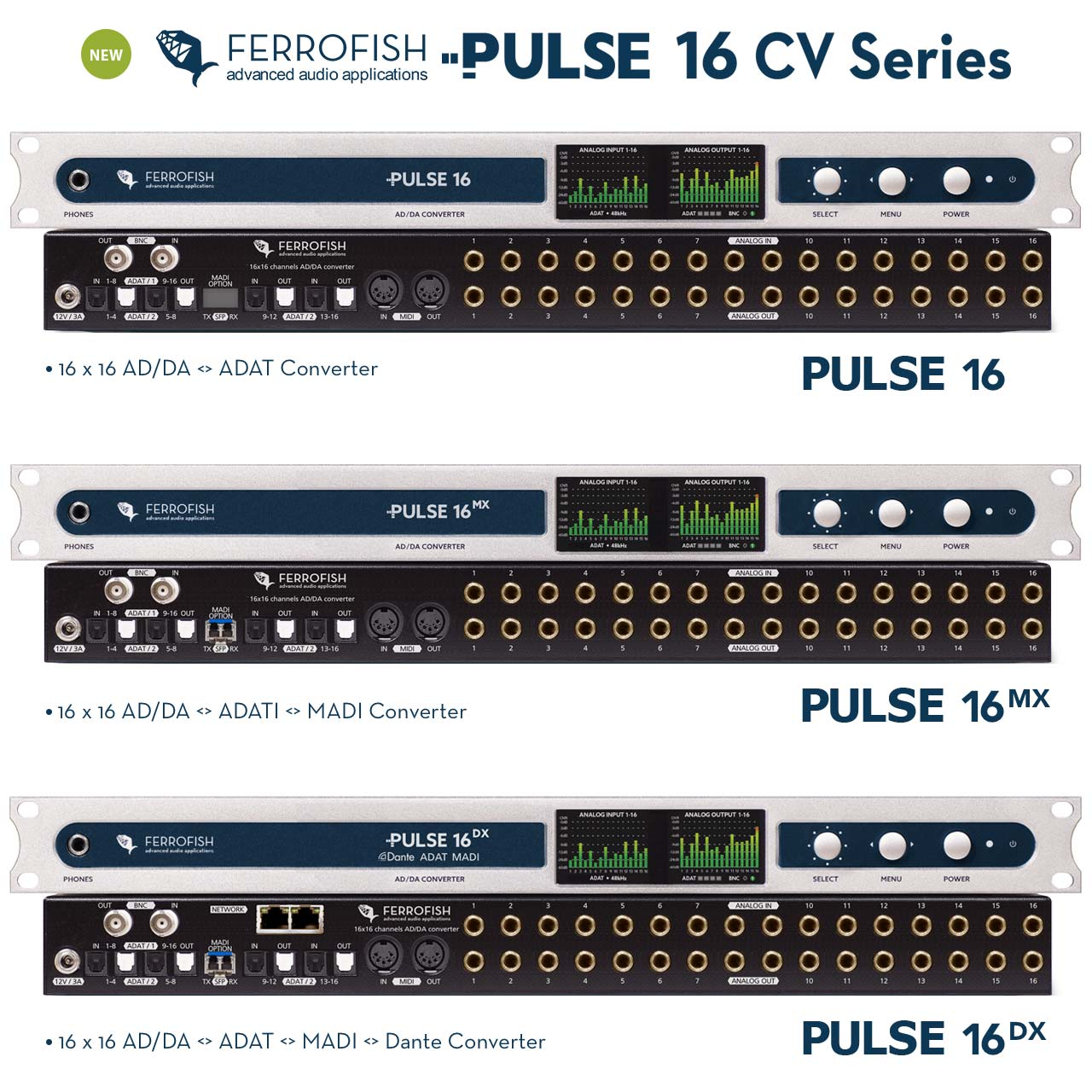 Ferrofish-Pulse-16-CV-Series - Full Range - Synthax Audio UK