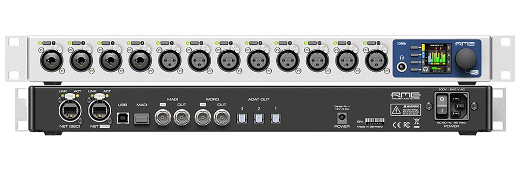 RME 12MIC - Front and Back - Synthax Audio UK