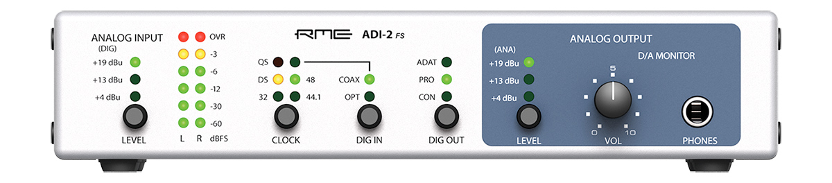 RME ADI-2 FS - Front Panel - Synthax Audio UK