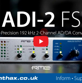 RME ADI-2 FS - Overview Video - Synthax Audio UK