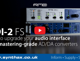 Upgrade Interface Video - RME ADI-2 FS - Synthax Audio UK