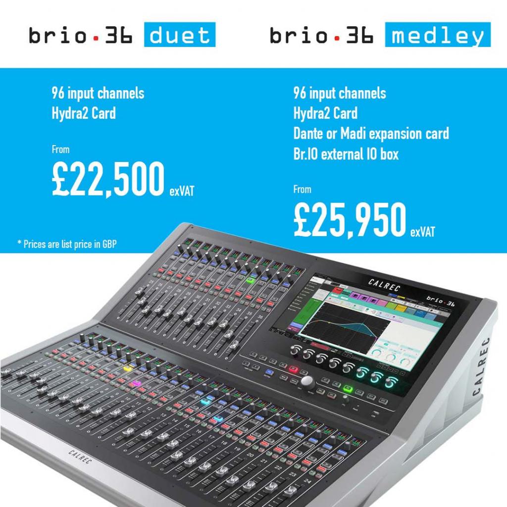 Calrec Brio 36 - Duet & Medley Pricing - Synthax Audio UK