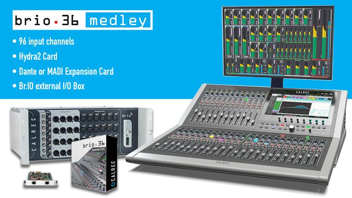Calrec Brio 36 Medley - Synthax Audio UK