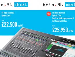 Calrec Brio Duet & Medley Consoles - News Images exVAT - Synthax Audio UK