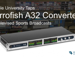 Ferrofish A32 Converter - Temple University - Synthax Audio UK