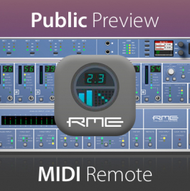 RME MIDI Remote 64-Bit Preview - News Image - Synthax Audio UK