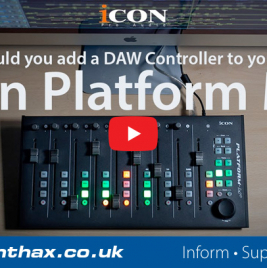 Using a DAW Controller - Icon Platform M+ - Synthax Audio UK