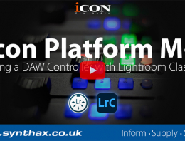 Icon-Platform-M-with-Lightroom-Feature-Image-Synthax-Audio-UK