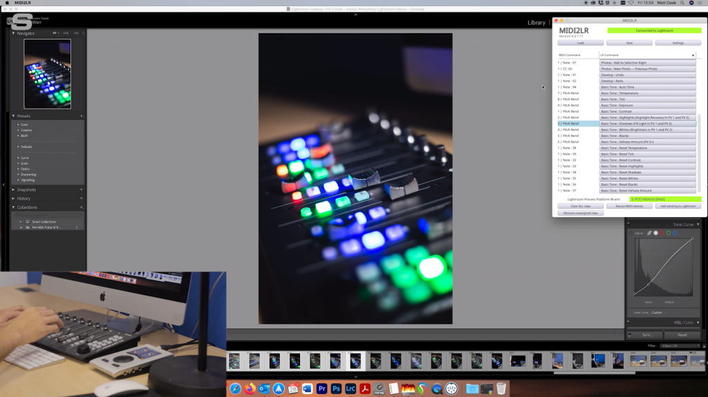 MIDI2LR Screenshot - Synthax Audio UK