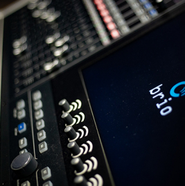 Calrec Brio console - Tokyo Olympics 2020 - Synthax Audio UK