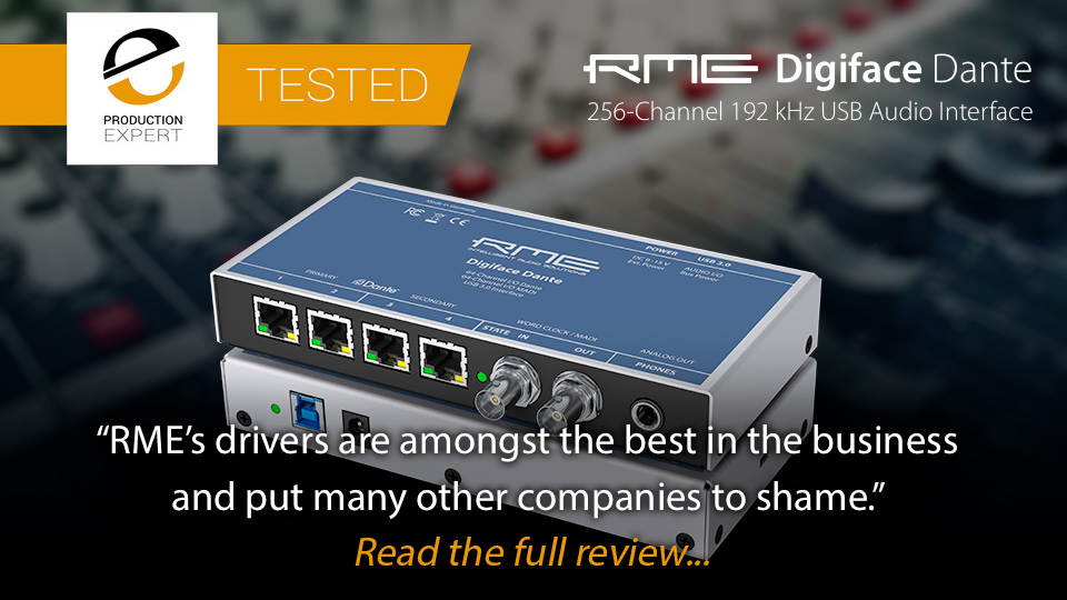 RME Digiface Dante review by Pro Tools Expert - click to read the full review
