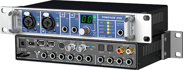 The legendary RME Fireface 400 audio interface
