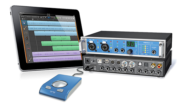The RME Fireface UCX was the first audio interface to be compatible with an Apple iPad