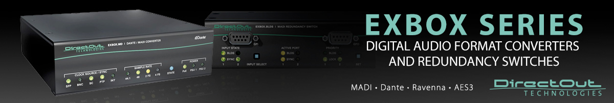 Category page for the DirectOut Exbox Series at Synthax Audio UK