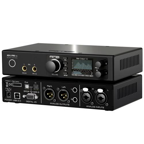RME ADI-2 Pro Black Edition - Angle - Synthax Audio UK
