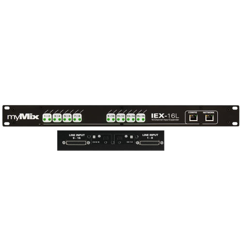 myMix IEX-16L-A 16 channel input expander for digital and analogue signals