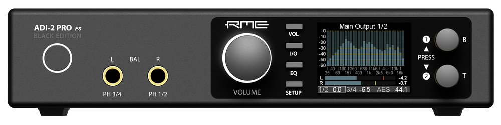 RME ADI-2 Pro Black Edition - Front-Panel - Synthax Audio UK